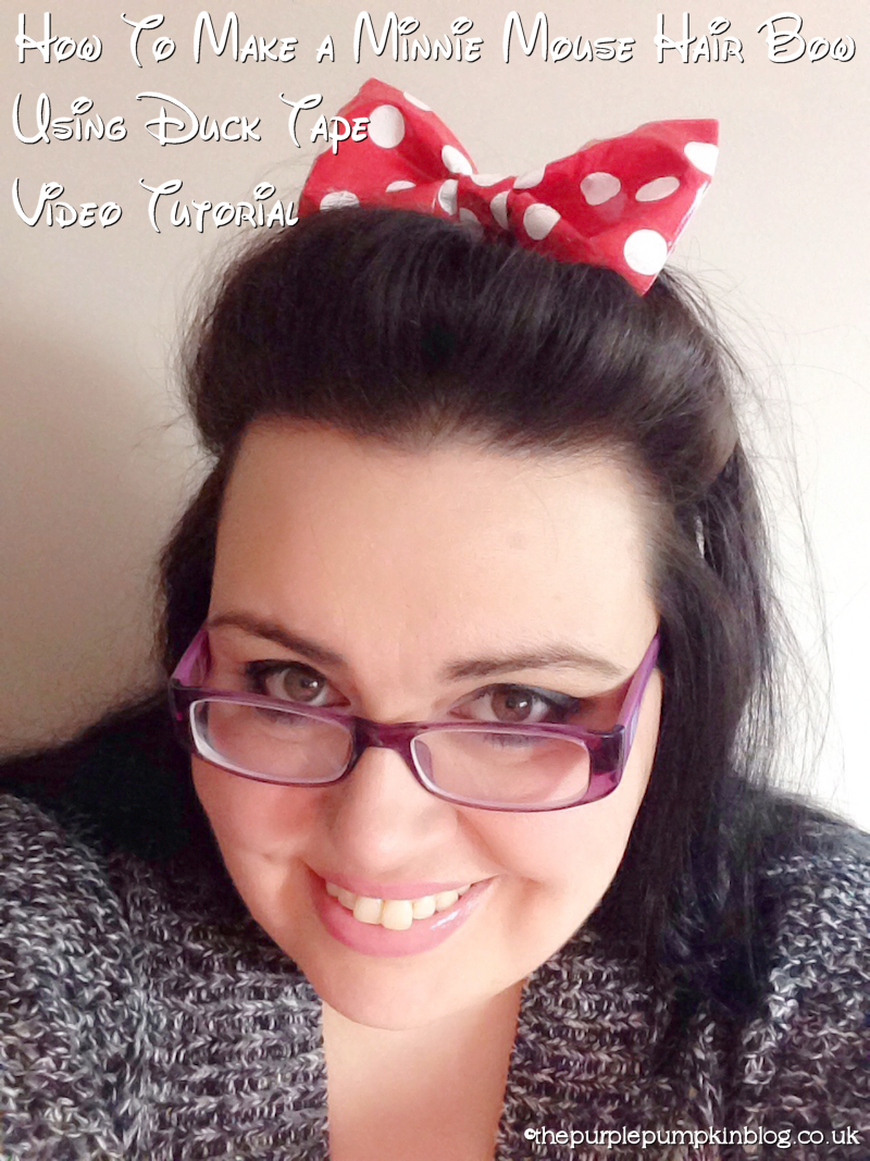 Make a Minnie Mouse Hair Bow using Duck Tape #100DaysOfDisney