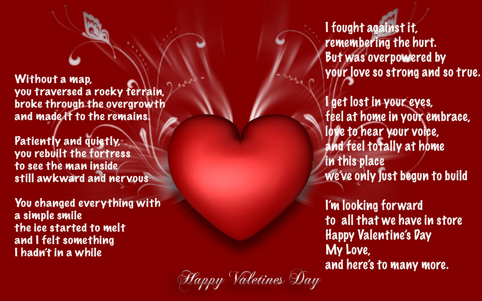 Happy Valentines Day My Love. 1600 x 1000.Valentine's Day Video Text Messages