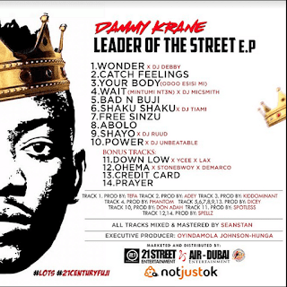 DOWNLOAD FULL ALBUM: Dammy Krane - Leader Of The Street [E.P Out Now] mp3
