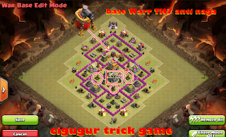 Base clan warr khusus TH7 anti naga coc