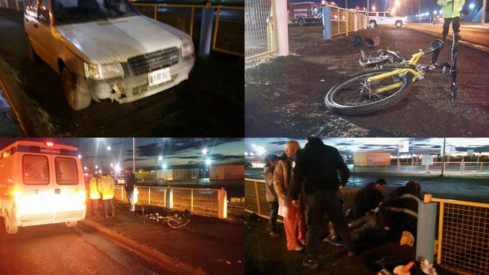 Ciclista atropellado trasladado al Hospital