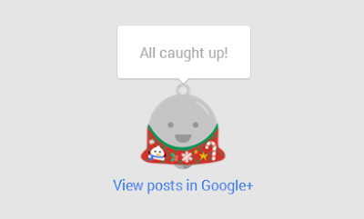 Google Plus Christmas Style Notifications