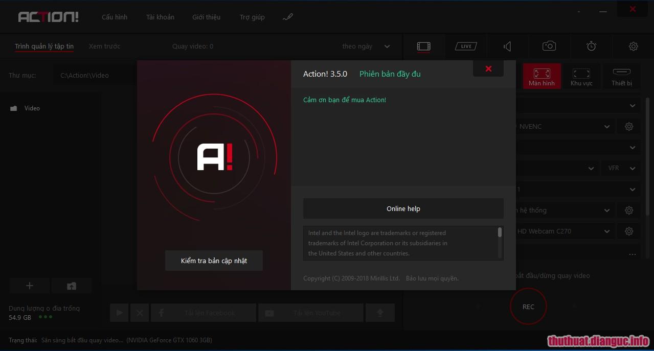 Download Action 3.5.0 Full Cr@ck – Quay video màn hình chuyên nghiệp