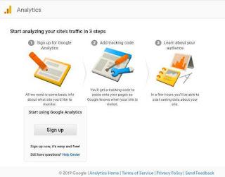 Signup akun di google analystics