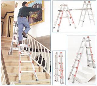 Sử dụng thang nhôm nhập khẩu ở nhiều vị trí khác nhau