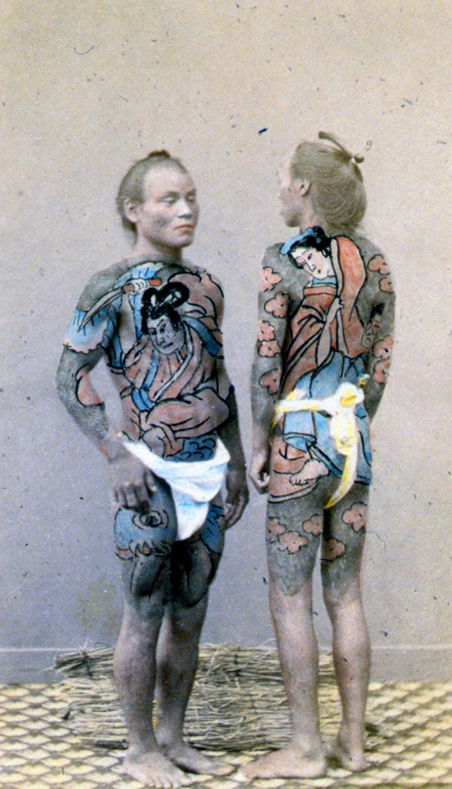 "Two tattooed ""bettoes,"" or horse grooms. 1864."