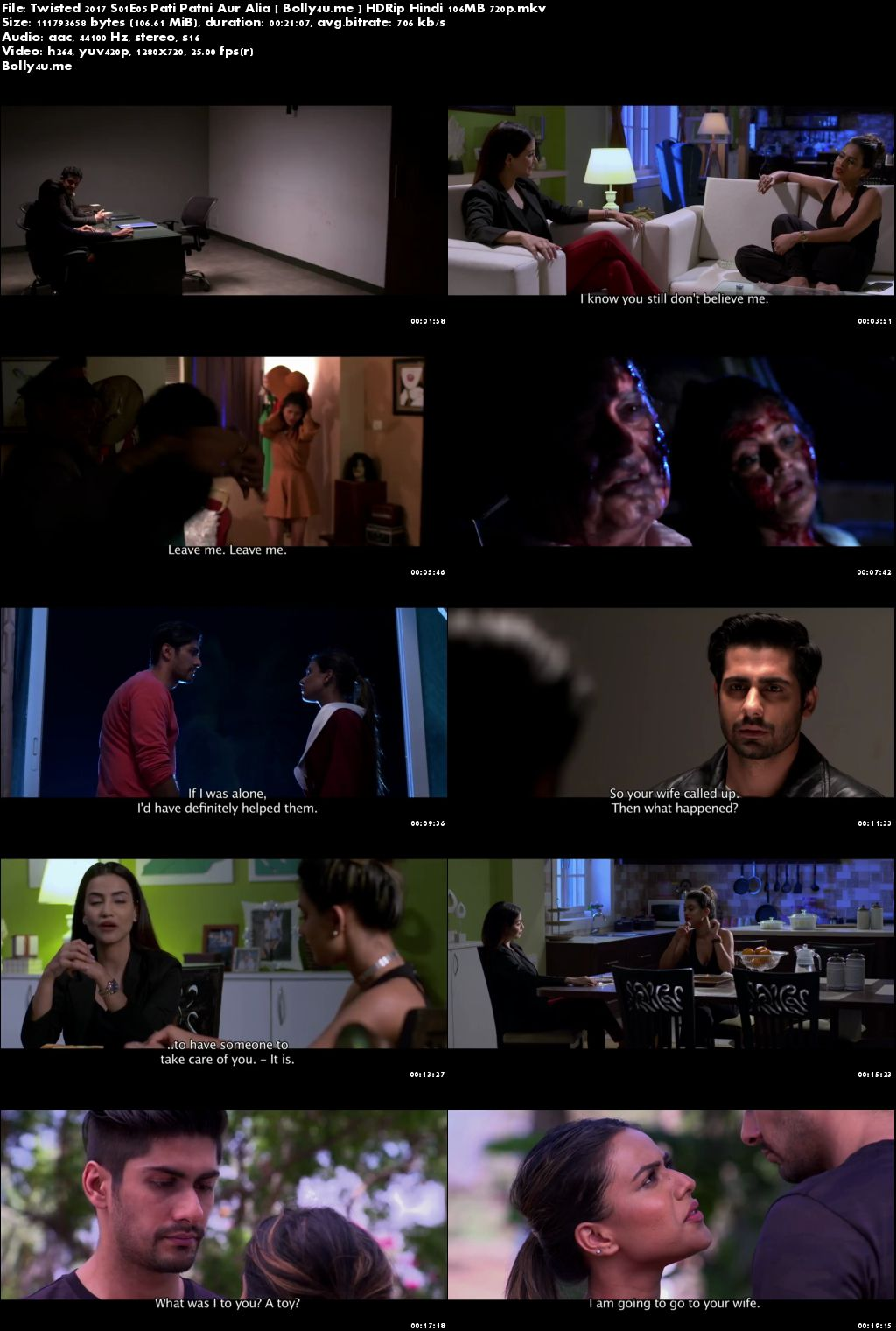 Twisted 2017 S01E05 Pati Patni Aur Alia HDRip 100Mb Hindi 720p Download