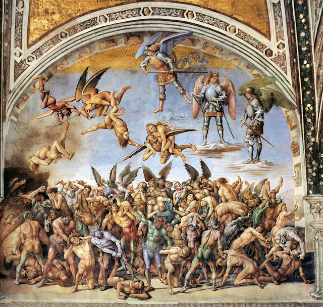 Image result for Last Judgment painted by Luca Signorelli