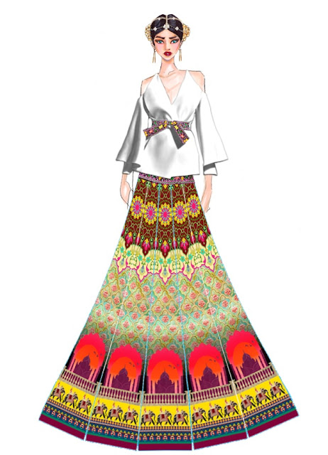 Designer Archana Kochhar's sketches for NYFW
