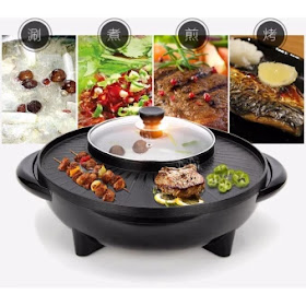 Lazada 12.12 Sales for Korean BBQ Style Grill and Steamboat 2 IN 1 - ROUND