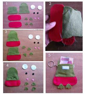 Tutorial dan cara membuat angpao karakter keropi dari kain flanel
