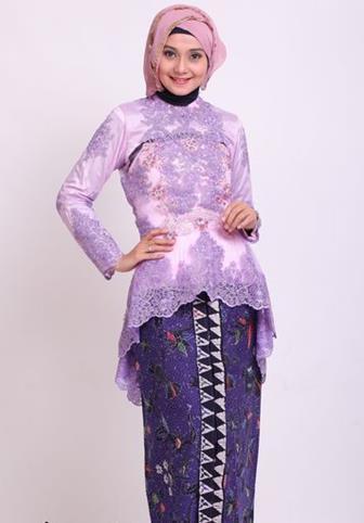 Model Baju Batik Kombinasi Brokat Muslim
