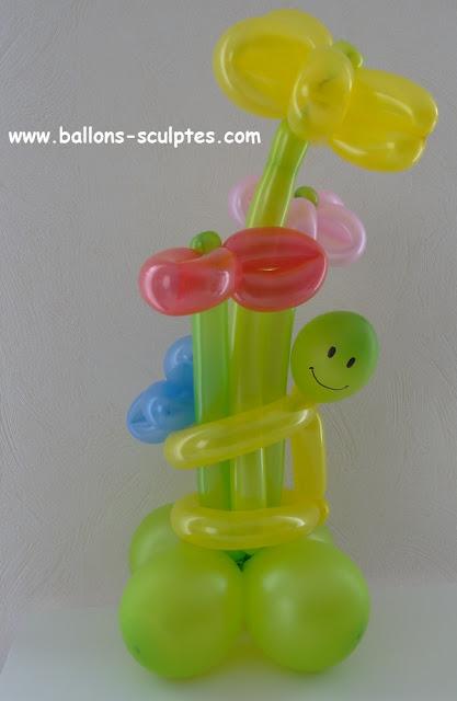 bouquet de fleurs en ballons
