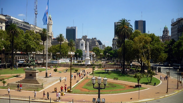Plaza de Mayo em Buenos Aires