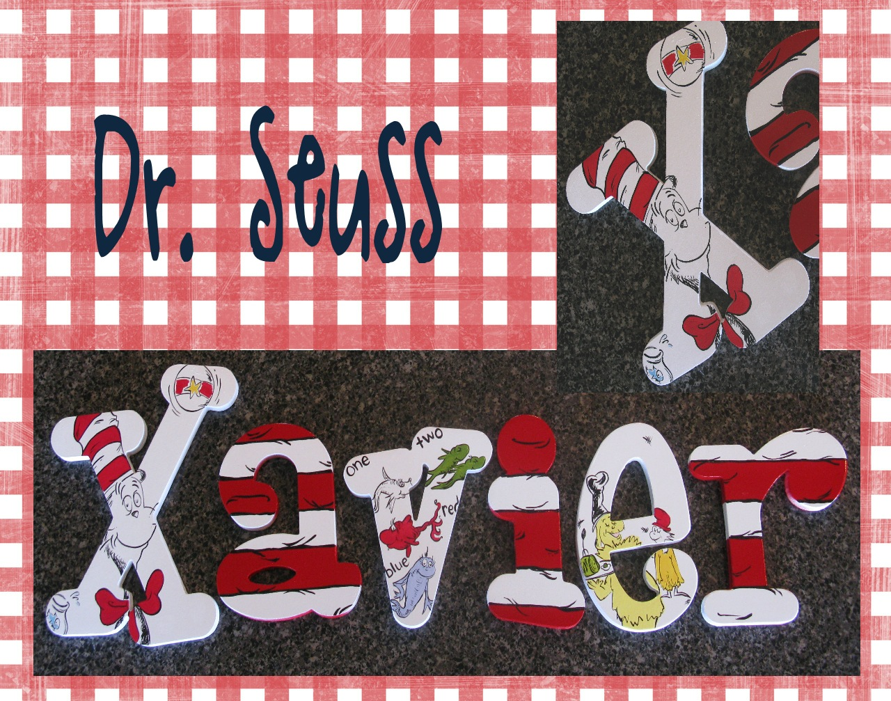 The Funky Letter Boutique 250th Set Of Dr Seuss Hand