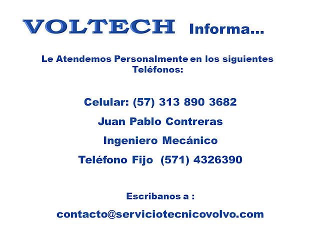 Contacto Servicio Tecnico Volvo Voltech