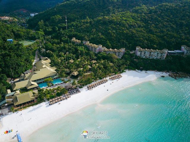 Aerial view of Pulau Redang Island - The Taaras Beach & Spa Resort