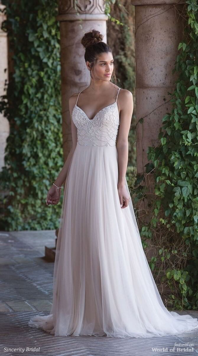 Sincerity Bridal Spring 2018 Chandelier Beading A-Line Gown