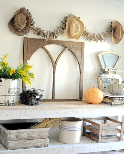 wall decor with driftwood