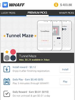 whaff atau whaff reward yaitu sebuah aplikasi penghasil uang  cara sanggup uang gratis dari android 2015