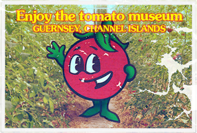 Tomato Museum poster, Guernsey, Channel Islands