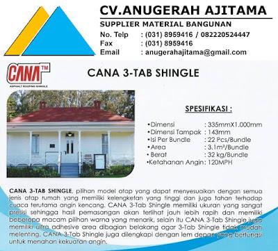 Spesifikasi Atap Sirap Bitumen Cana