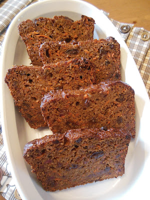 Carrot Raisin Banana Bread, whole grain and no refined sugars!