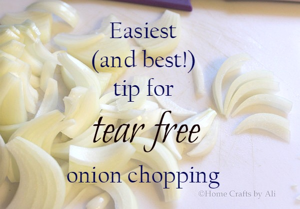 1 easy tip for tear free onion chopping