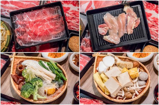 collage2 - 來自台北的人氣壽喜燒吃到飽!份量大方幾乎不漏單,肉品蔬菜甜點飲料任你吃