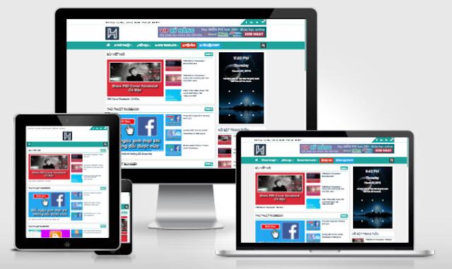 Mẫu template phù hợp cho các blog cá nhân, blog tin tức, blog chia sẻ...