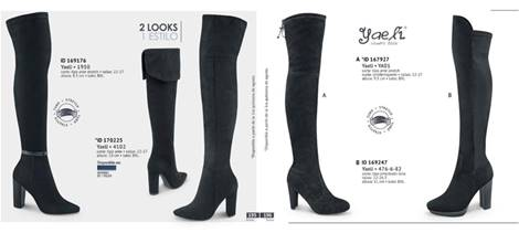 botas largas tubo stretch