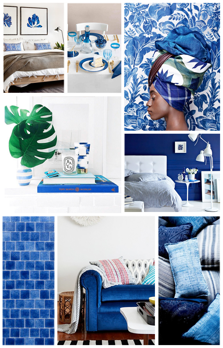 moodboard pantone lapis blue decoration