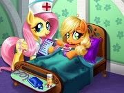 Have a great time playing this new My Little Pony game called Applejack Stomach Care on GamesGirlGames.com. While she was strolling through her garden, Applejack thought she had found a delicious apple, but it only gave her a bad tummy ache. Assist doctor Fluttershy and take care of the pony! Give Applejack the right medicine, feed her some nutritious yogurt and make sure she gets a visit from her lovely friend Rainbow Dash, so she can get better again.