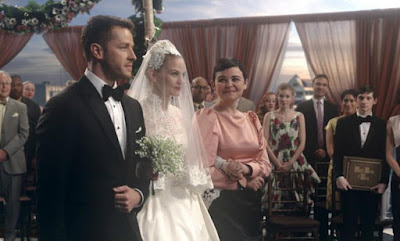 Charming and Snow walk Emma down the aisle to marry Hook on 'Once Upon A Time'