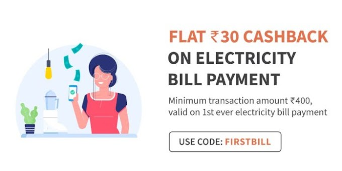 Full Freecharge 100% Cashback Offer for Electricity Bill Payment