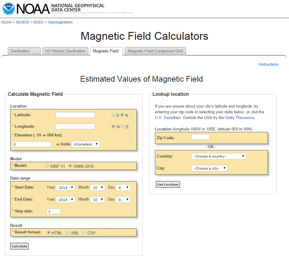 Summa Physica: How to find your background geomagnetic field