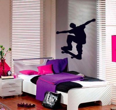 Het effect van 1 muursticker of meerdere muurstickers wonen 2017 - Volwassen kamer decoratie ...
