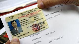 đổi giấy phép lái xe thẻ nhựa PET