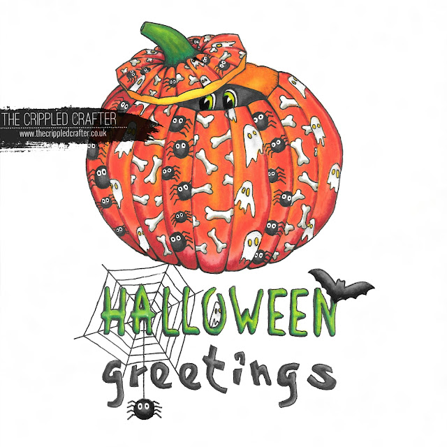 Halloween drawing by Sam Lewis AKA The Crippled Crafter