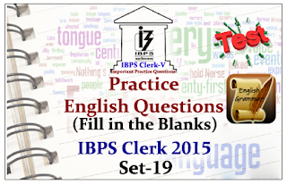 Practice English Questions (Fill in the Blank)