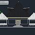 مخطط مشروع مطعم بتصميم مميز اوتوكاد dwg