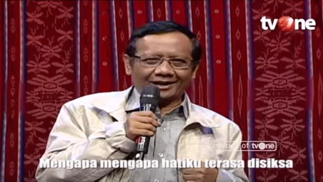 Reaksi Mahfud MD saat Aksinya Menyanyi Lagu 'Janjimu Palsu' Dijadikan Meme 'Jokowi Pilih Ma'ruf'