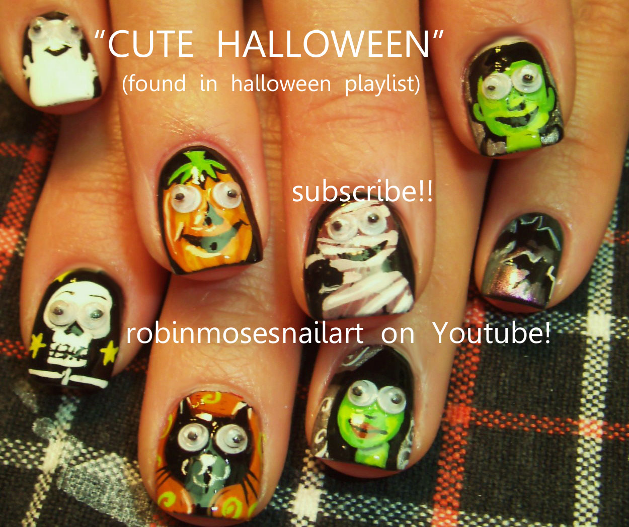 HALLOWEEN NAILS, googley eyes, googlie eyes, HALLOWEEN witch, nail ...