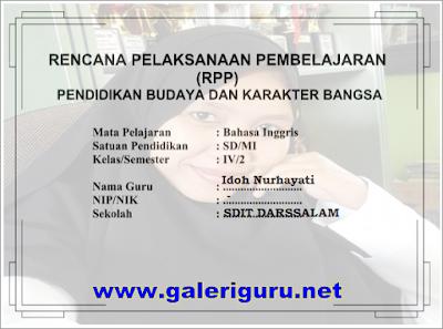 RPP Bahasa Inggris SD Kurikulum 2013 Revisi Kelas 1, 2, 3, 4, 5 dan 6 Semester 1 dan 2