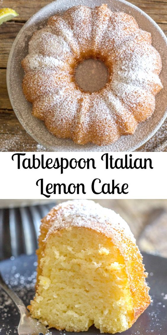 Tablespoon ítalían Lemon Cake