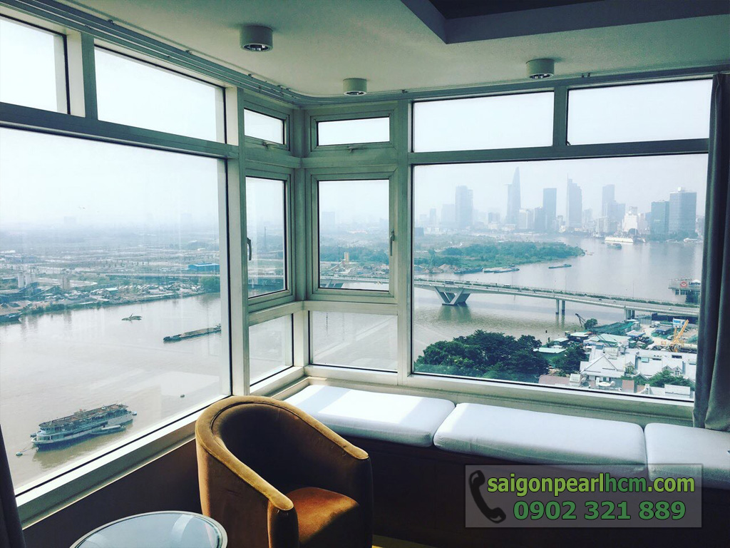 Cho thuê Saigon Pearl căn hộ 4 phòng ngủ 206m2 Ruby 1 view sông Sài Gòn - hình 3
