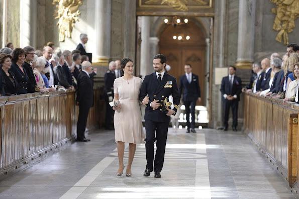 Crown Princess Victoria, Prince Daniel, Princess Estelle, Princess Madeleine, Christopher O'Neill, Prince Carl Philip and Princess Sofia of Sweden and royal guests, King Juan Carlos, Queen Sofia of Spain, Denmark's Queen Margrethe, Prince Albert