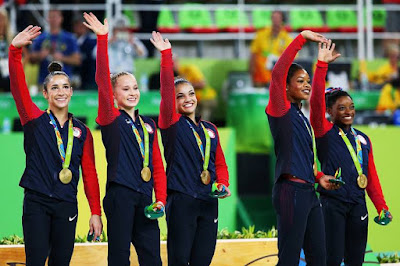 Simone Biles Leads USA Gymnasts Team 'final five' to Olympic gold at Rio