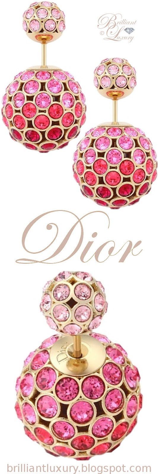 Brilliant Luxury ♦ Dior 'Mise en Dior' tribal-inspired earrings in pink