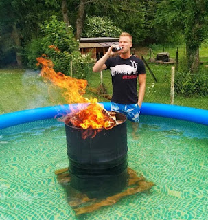Presenting you the redneck hot tub